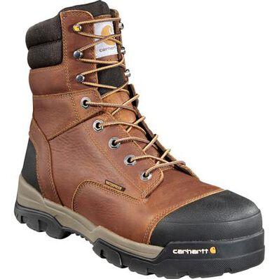 Carhartt Ground Force Men's 8 Inch Composite Toe Waterproof Work Boot, , large