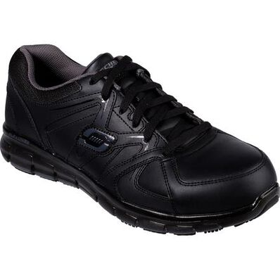 SKECHERS Work Synergy-Ekron Men's Alloy Toe Electrical Hazard Leather Athletic Work Shoe, , large