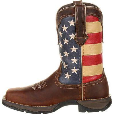 Lady Rebel Work™ by Durango® Steel Toe Patriotic Flag Work Boot, , large