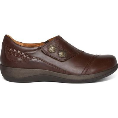Aetrex Karina Women's Casual Leather Slip-On with Monk Strap, , large