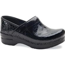 Dansko Professional Women's Black Tooled Leather Work Clog