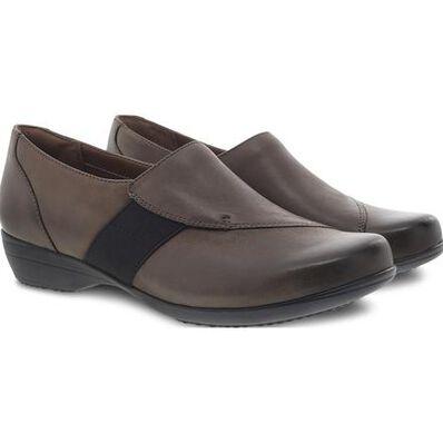 Dansko Fae Women's Mushroom Leather Slip-On Shoe, , large