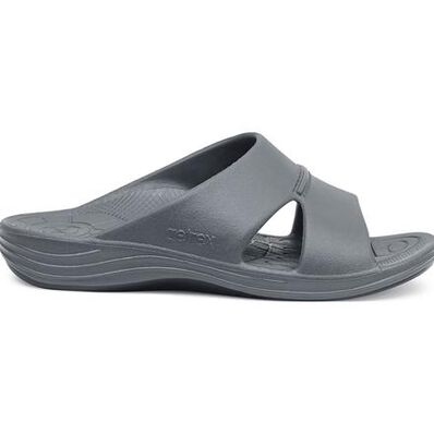 Aetrex Bali Men's Casual Charcoal Slide Slip-on Shoe, , large
