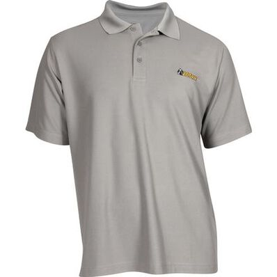 Rocky Logo Short-Sleeve Polo Shirt, GRAY, large