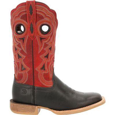 Durango® Lady Rebel Pro™ Women's Black & Crimson Western Boot, , large