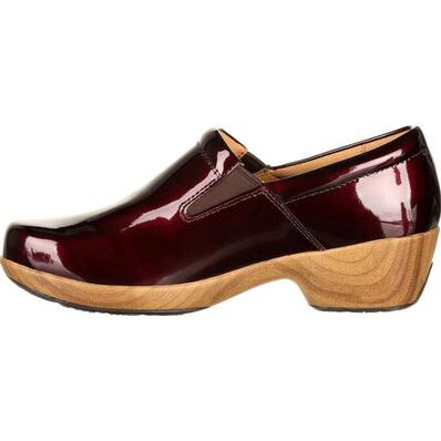 4Eursole Comfort 4Ever Women's Burgundy Patent Slip-On Shoe, , large