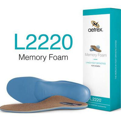 Aetrex Women's Memory Foam Flat/Low Posted Arch Orthotic for Work Boots, , large