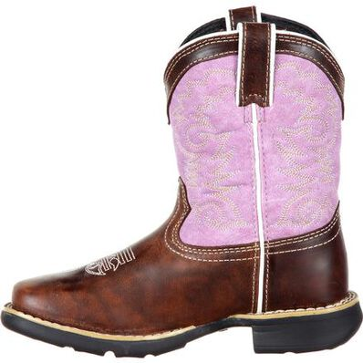 LIL' DURANGO® Little Kids' Lavender Pull-On Western Boot, , large