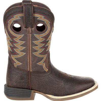 Durango® Lil' Rebel Pro™ Big Kid's Brown Western Boot, , large