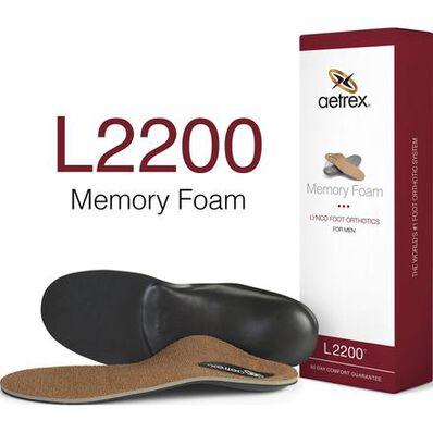 Aetrex Men's Memory Foam Medium/High Arch Orthotic, , large