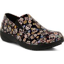 Spring Step Ferrara Small Sugar Skull Women's Slip-Resistant Slip-On Work Shoe