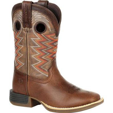Durango® Lil' Rebel Pro™ Big Kid's Tiger Eye Western Boot, , large