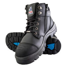 Steel Blue Parkes Zip Steel Toe Side Zip Work Boot