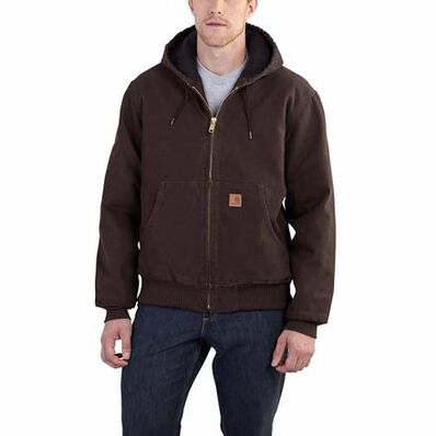 Carhartt Sandstone Active Quilted-Flannel-Lined Jacket, , large