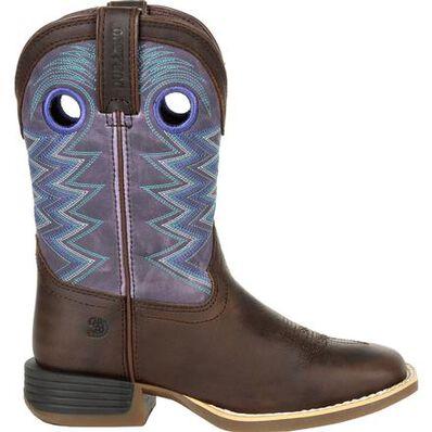Durango Lil' Rebel Pro Big Kid's Amethyst Western Boot, , large