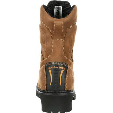 Georgia Boot Comfort Core Composite Toe Waterproof 400G Insulated Logger Work Boot, , large