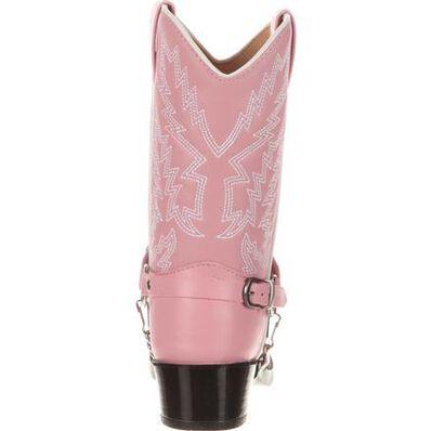 Durango® Little Kid Pink Rhinestone Western Boot, , large