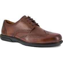 Florsheim Work Loedin Men's Steel Toe Static-Dissipative Brown Leather Dress Oxford
