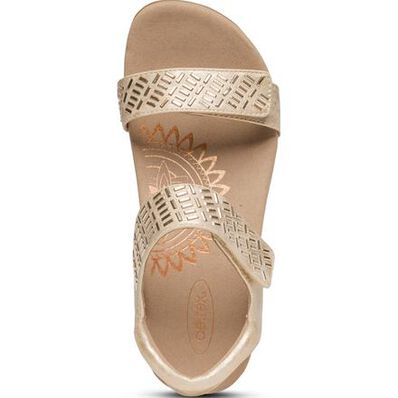 Aetrex Marcy Women's Casual Embellished Adjustable Sandal, , large