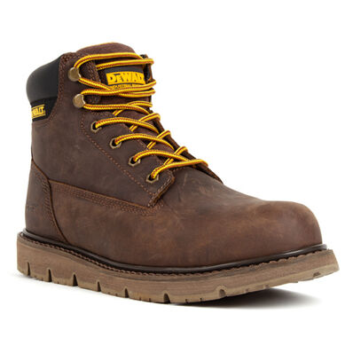 DEWALT® Flex Men's Steel Toe Brown Tie-Up Wedge Work Boots, , large