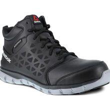 Reebok Sublite Cushion Work Men's Composite Toe Electrical Hazard Waterproof Mid-Cut Athletic Shoe