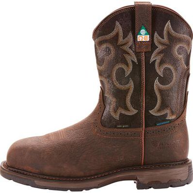 Ariat WorkHog Wide Square Men's 11 inch Composite Toe CSA Puncture Resistant Waterproof 600g Insulated Western Work Boot, , large