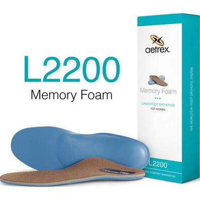 Aetrex Women's Memory Foam Medium/High Arch Orthotic, , large