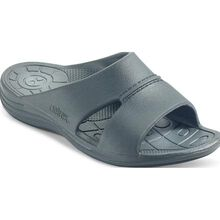 Aetrex Bali Men's Casual Charcoal Slide Slip-on Shoe