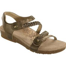 Aetrex Jillian Women's Casual Bronze Leather Sandal