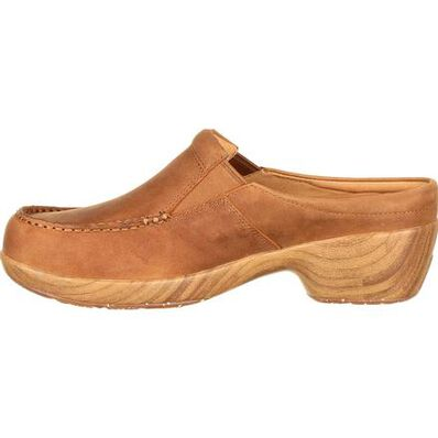 4Eursole Comfort 4Ever Women's Tan Moc-Toe Slide, , large