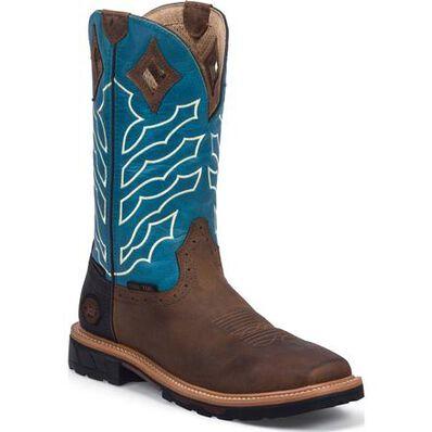Justin Work Hybred® Derrickman Steel Toe Waterproof Western Work Boot, , large