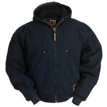 Berne Midnight Quilt-Lined Original-Washed Hooded Jacket