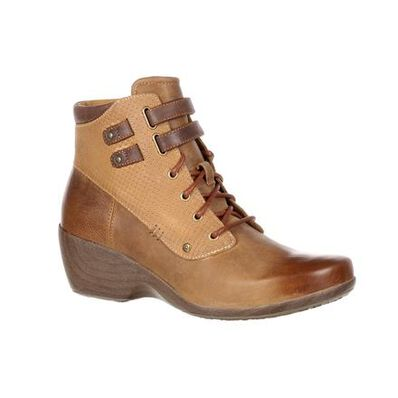 4EurSole Concerto Women's Brown Waterproof Lace-Up Bootie, , large
