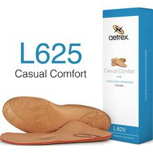 Aetrex Men's Casual Comfort Flat/Low Arch Posted with Metatarsal Support Orthotic