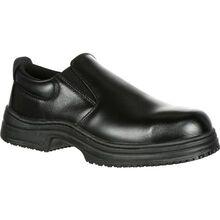 SlipGrips Steel Toe Slip-Resistant Slip-On Work Shoe
