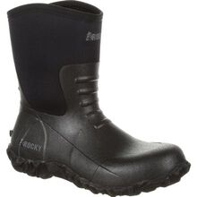 Rocky Core Chore Black Rubber Outdoor Boot