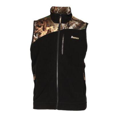 Rocky Full Zip Fleece Vest, BLACK, large