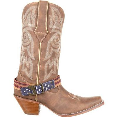 Crush™ by Durango® Women's Flag Accessory Western Boot, , large