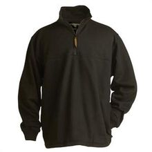 Berne Black Thermal-Lined Original Fleece Quarter Zip