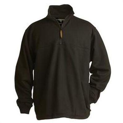 Berne Black Thermal-Lined Original Fleece Quarter Zip, , large