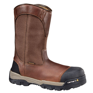 Carhartt Ground Force Men's 10 Inch Composite Toe Waterproof Electrical Hazard Pull On Work Boot, , large