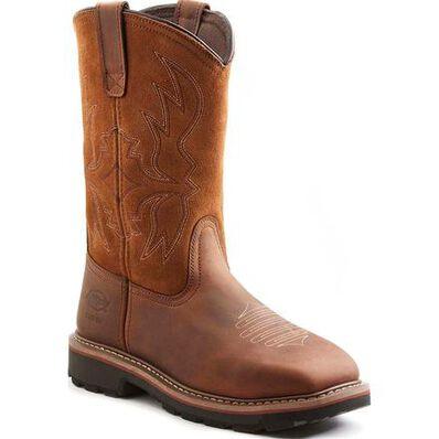 Dickies Stockyard Men's 12 inch Steel Toe Electrical Hazard Western Work Boot, , large