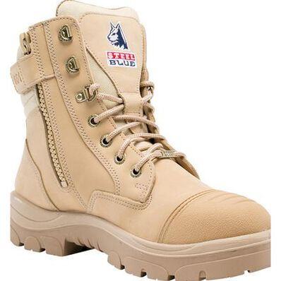 Steel Blue Southern Cross Zip Men's 6 inch Steel Toe Electrical Hazard Work Boot, , large