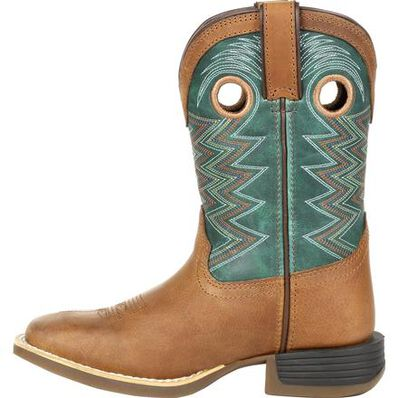 Durango Lil' Rebel Pro Big Kid's Teal Western Boot, , large