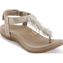 Aetrex Portia Women's Casual Fringe Slingback Thong Shoe