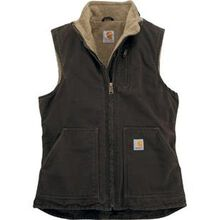 Carhartt® Sandstone Women's Mock-Neck Sherpa-Lined Vest