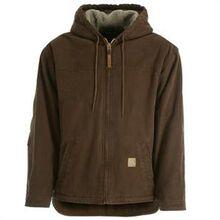 Berne Bark Sherpa-Lined Sanded Hooded Work Jacket