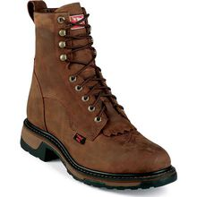 Tony Lama TLX Steel Toe Waterproof Western Work Lacer