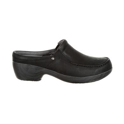 4Eursole Comfort 4Ever Women's Black Moc-Toe Slide, , large