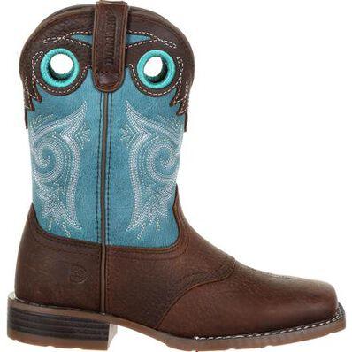 Durango® Lil' Mustang™ Big Kids Western Saddle Boot, , large